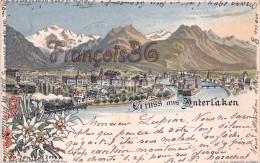 Gruss Aus Interlaken - Illustration  1904 - BE Berne
