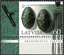 Latvia Lettland Lettonie 2007 (16) Liv Archeological Jewelery (corner Of Sheet) - Latvia