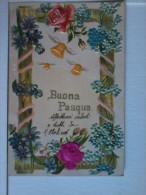Cartolina Artistica Di Buona Pasqua In Rilievo - Italia