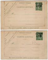 TB 193- Entier Postal Type Semeuse Lignée - Carte Lettre Taxe Réduite + Variété De Surcharge - Neuve - Postal Stamped Stationery