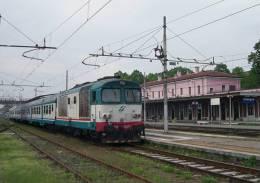 R53 FS Treni D 445.1128 Codogno (LO) Tpaívo Railroad Train Railways Zug Treno Steam Chemin De Fer Reggiane - Trains