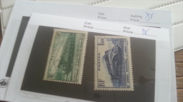 LOT 219798 TIMBRE DE FRANCE NEUF** N�339/340 VALEUR 18,7 EUROS