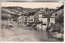 SAINT GENIEZ D'OLT 12 - Les Rives Du Lot - CPSM Dentelée Noir Et Blanc PF - Aveyron - France