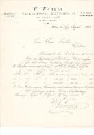 1896 Facture Lettre Invoice Horticulteur Baumschule Wohler Wilna Russia Russland