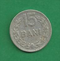 = ROMANIA - 15 BANI  - 1975  # 259 = - Romania