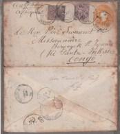 envlp de l'INDE VERS LE CONGO BELGE 1901