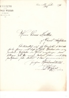 1896 Facture Lettre Invoice Kunst & Handelsgartnerei Wesser Kiev Kiew  Russia Russland - Autres