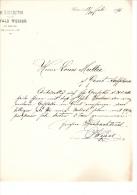 1896 Facture Lettre Invoice Kunst & Handelsgartnerei Wesser Kiev Kiew  Russia Russland