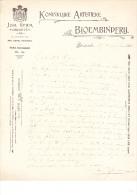 1906 Factuur Brief Invoice Joh. Germ Dordrecht Koninklijke Artistieke Bloembinderij Horticulture - Netherlands