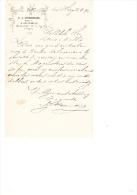 1892 Factuur Brief Invoice A.J. Stemerding 's Gravenhage Bloemist Horticulture - Netherlands