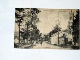 Carte Postale Ancienne : ROZIER EN DONZY : Le Bas Du Bourg , Animé - France
