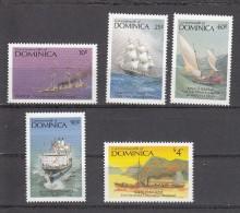 Domionica 1987 Mi Nr 1051 + 1053 + 1056 + 1057 + 1060 Ships Historisch - Dominica (1978-...)