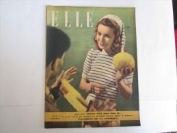 REVUE ELLE MAI 1947 N°79 FEMME MODE - 1900 - 1949