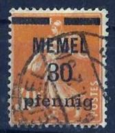 Memel.  No 21. 0b. - Memel (1920-1924)