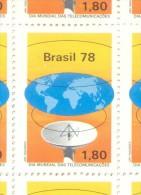 BRASIL BRESIL  YVERT NR. 1313 MNH AÑO 1978 JOURNEE MONDIALE DES TELECOMMUNICATIONS TELECOMUNICACIONES - Unused Stamps