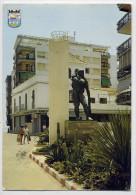 Espagne--ALMUNECAR--(Gren Ade)--Monument Au Pêcheur (animée,banque) ,cpm N° 841  Série 45 éd Zerkowitz - Espagne