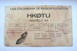 QSL RADIO AMATEUR CARD-COLOMBIA,LIGA COLOMBIANA DE RADIOFICIONADOS - Radio Amateur