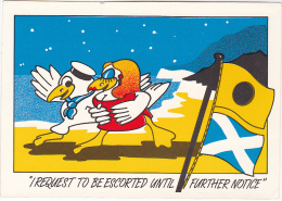 Old Postcard NAVY HUMOUR ´ I Request To Be Escorted Until Further Notice´ Produced In England - Humour