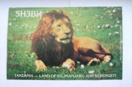 QSL RADIO AMATEUR CARD-TANZANIA,DAR ES SALAAM-BJORN HUMBLE - Radio Amateur
