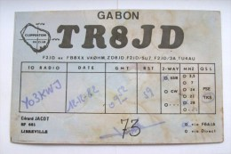 QSL RADIO AMATEUR CARD-GABON - Radio Amateur