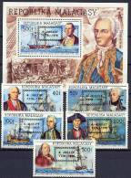 Malagasy 1976 US Bicentennial, Ships Set Of 5 + S/s With Overprint MNH - Unabhängigkeit USA