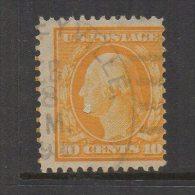 N673.-. USA / ESTADOS UNIDOS.-.1908-1909 .-. SC# : 338 .-. USED .-. WASHINGTON .-. CAT VAL US$ 2.00 - Etats-Unis
