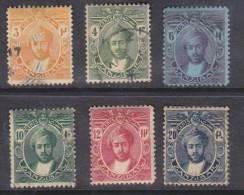 Zanzibar: Sultan Kalif-bin-Hamoud-Naherud  1914, 6 Stamps To 10c,, 5 Used , 1 MH* - Zanzibar (...-1963)