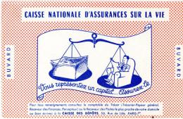 -  BUVARD CAISSE NATIONALE D'ASSURANCE SUR LA VIE  - 712 - Banca & Assicurazione