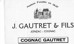 -  BUVARD  - COGNAC GAUTRET - JONZAC  Charente - 716 - Liquor & Beer