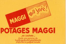 -  BUVARD  - POTAGES MAGGI - 717 - Potages & Sauces