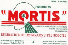 -  BUVARD  93 - MONTREUIL-SOUS-BOIS - Produits MORTIS - 720 - Blotters