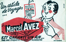 -  BUVARD  Article De Voyages Marcel AVEZ Efgé VALENCIENNES Nord - 724 - Textile & Vestimentaire