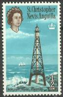 St Christopher, Nevis & Anguilla - 1963 New Lighthouse, Sombrero 1/2c MNH **   SG 129 Sc 145 - St.Christopher-Nevis-Anguilla (...-1980)