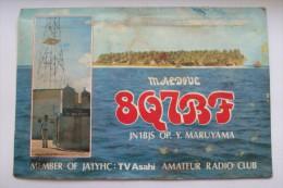QSL RADIO AMATEUR CARD-MALDIVE - Radio Amateur
