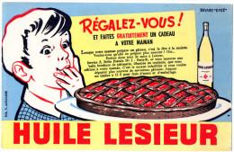 -  BUVARD  Huile LESIEUR - 736 - Produits Ménagers