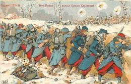 Cpa Illustrateur - 1915 - Nos Poilus - ** Sur Le Grand Couronné **  - Voir 2 Scans - War 1914-18