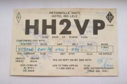 QSL RADIO AMATEUR CARD-HAITI,PETIONVILLE - Radio Amateur