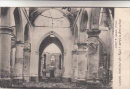 Leysele Intérieur De L´Eglise Apres La Destruction (pk14045) - Alveringem