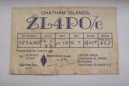 QSL RADIO AMATEUR CARD-CHATHAM ISLAND - Radio Amateur