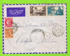 LETTRE PAR AVION POUR LA COTE D´IVOIRE - 1927-1959 Lettres & Documents