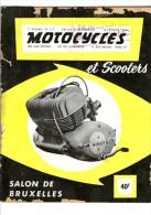 15/02/1954 Revue MOTOCYCLES N)117 - Salon De Bruxelles - Publicités Dont Le Scooter VESPA - Moto