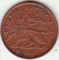 Etiopia, 1/32 Di Birr. Menelik II - Etiopia
