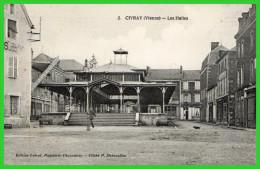 - CIVRAY (Vienne) Les Halles (recto Verso) - Civray