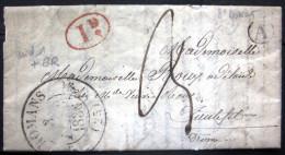 Cachet Type 12 + Boite Rurale  --  ROMANS  --  DROME  --  LAC  --  1836 - Storia Postale