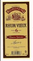 Etiquette  RHUM  VIEUX  Réserve Spéciale - 6 Ans -  Distillerie  Reimonenq - GUADELOUPE - - Rhum