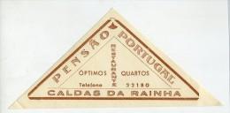 CALDAS DA RAINHA, Leiria, Portugal - Luggage Label - PENS�O PORTUGAL