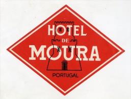 MOURA, Beja, Portugal - Luggage Label - HOTEL DE MOURA