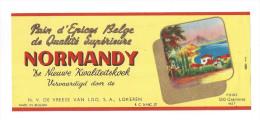 Etiquette Pain D´Epice Ou Epices  Au Miel  -   Normandy   -   De Vreese Van Loo  à  Lokeren  Belgique - Etiquettes