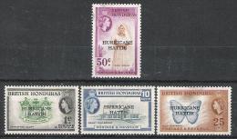 British Honduras 1962 Hurricane Hattie Relief Fund MNH CV £2.90 - British Honduras (...-1970)