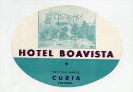 CURIA, Anadia, Aveiro, Portugal - Luggage Label - HOTEL BOAVISTA